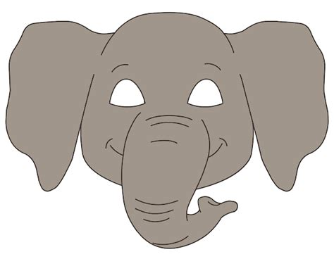 elephant mask template www imgkid com the image kid
