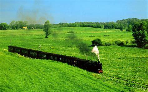 hd  steam train  grass fields wallpaper