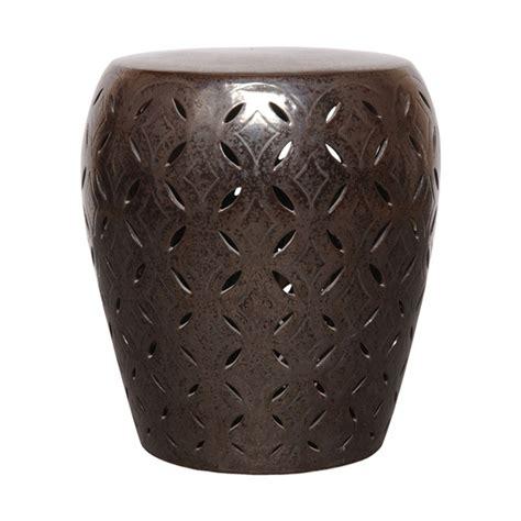 lattice garden stool emissary 12784gm large lattice garden stool gun metal