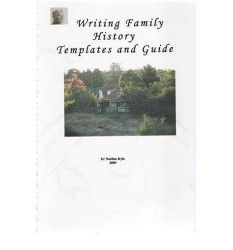 family history book template writing family history templates and guide noeline kyle