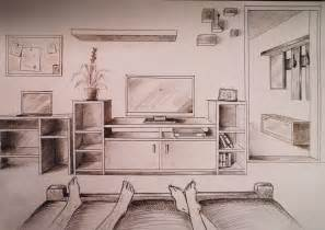 one point perspective bedroom how to draw one point perspective bedroom with furniture youtube