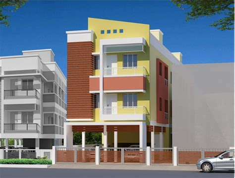 home design residential multi storey building elevation