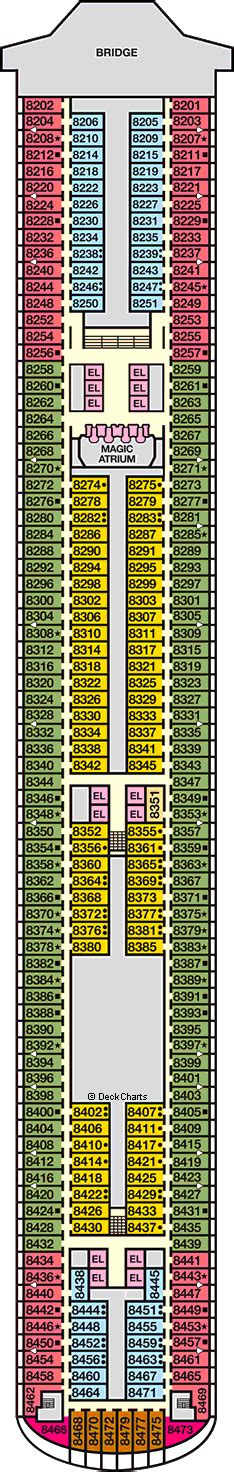 carnival magic deck 9 interior stateroom floor plans carnival magic deck 8 cruise critic