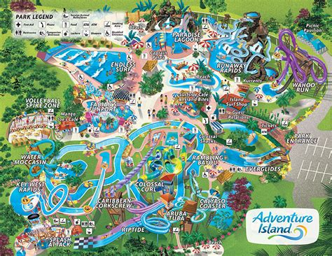 islands of adventure map map adventure island ta waterpark
