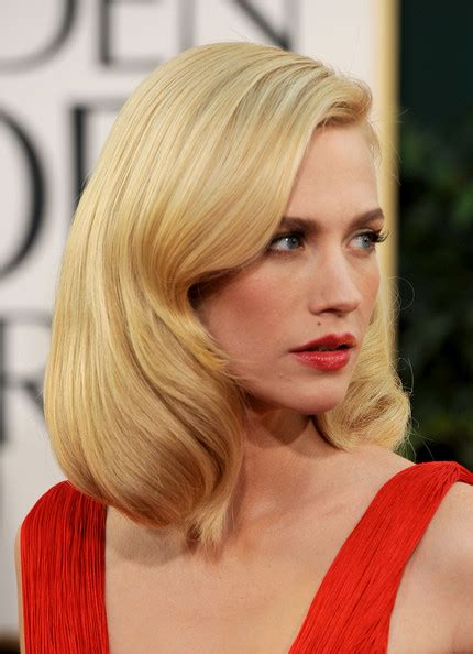 january jones wavy medium hairstyles