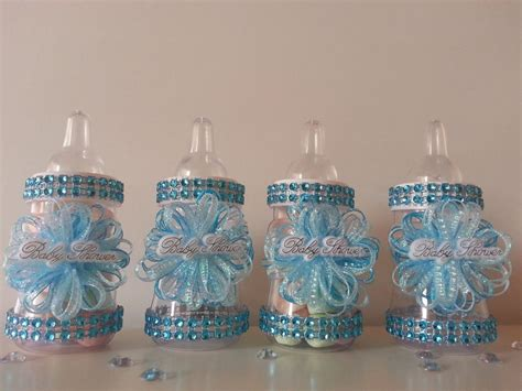 Bottle Baby Shower Favors by 12 Blue Fillable Bottles For Baby Shower Favors Prizes Or