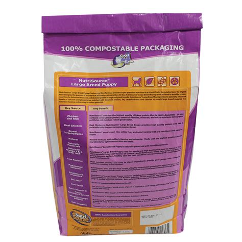 Nutri Source Rice 18 Lbs nutri source 174 large breed puppy food leedstone