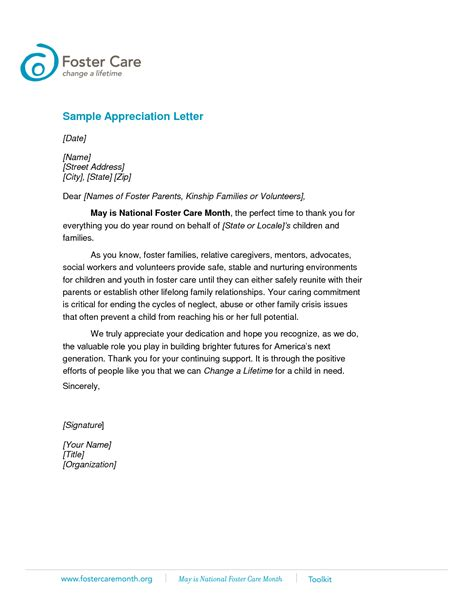 How to write a letter of appreciation sample cover letter templates