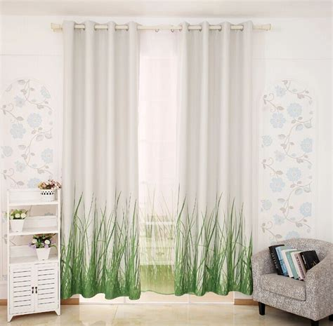 green modern curtains free shipping 3 d 2015 luxury window curtain living room