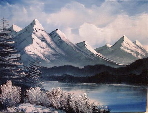 bob ross painting mountains happy trees studio may 2011