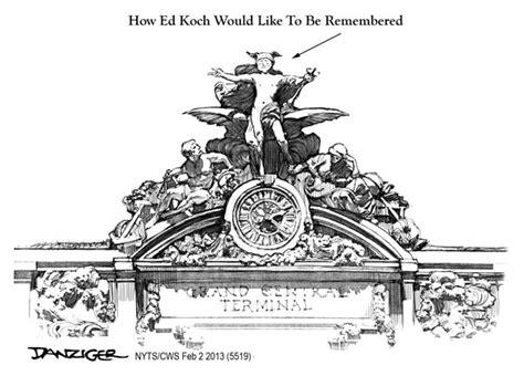 Ed Koch Memorial Danziger Cartoons Nyc Coloring Page