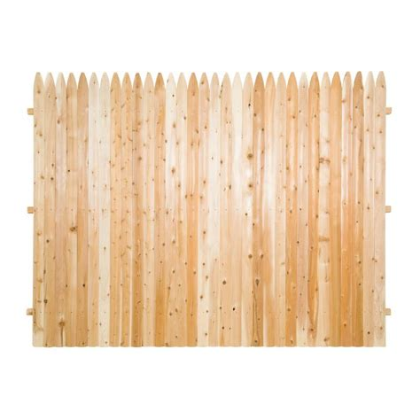 6 X 8 Unfinished Western 6 Ft X 8 Ft Premium Cedar Solid Top Fence Panel With