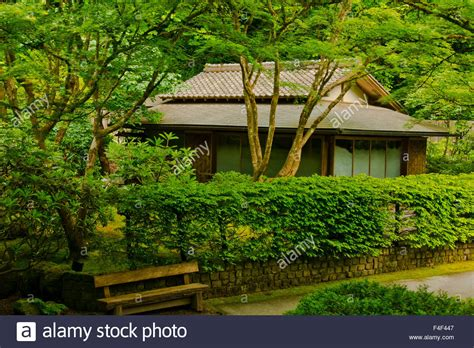 tea house portland tea house tea house garden portland japanese garden portland stock photo royalty