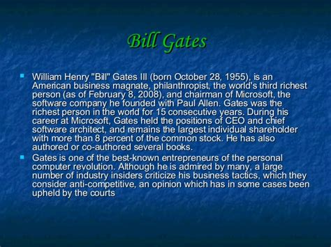 bill gates biography slideshare bill gates 180 s creativity inventions and brief overview of