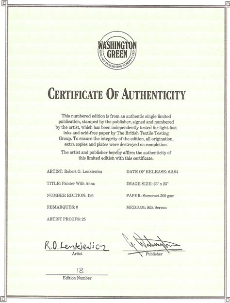 limited edition print certificate of authenticity template robert lenkiewicz limited edition prints for sale