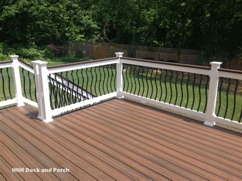 porch banister deck railing gallery hnh deck and porch llc 443 324 5217