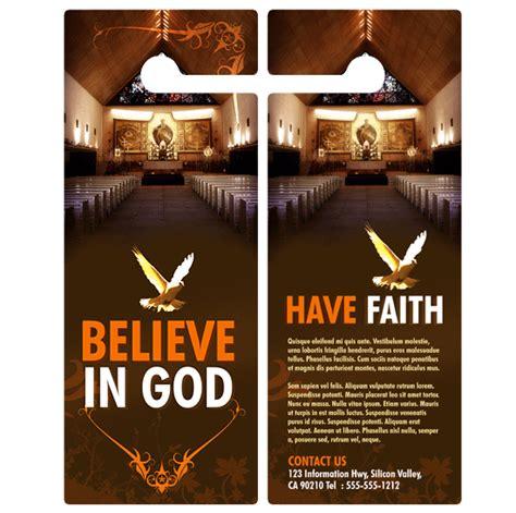 door flyer template door hanger flyer advertising for churches does it work