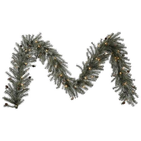 vickerman 335444 9 x 12 quot frosted pistol pine 50 clear