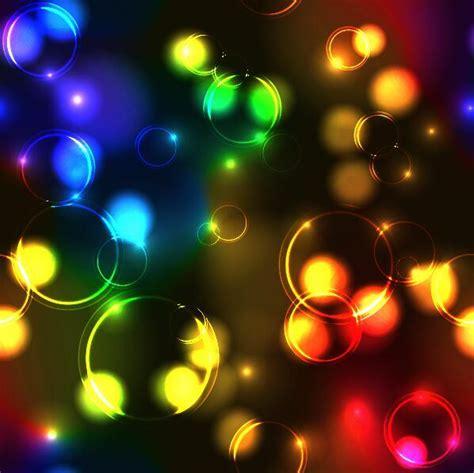 colored transparent bubbles background vectors