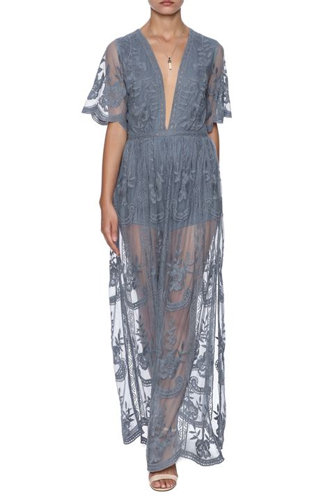 Maxi Lace honey punch boho lace maxi dress from manhattan by dor l
