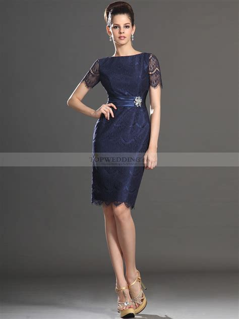 Swing Kleider Schermbeck by Sleeved Lace Sheath Of The Dress With Sash