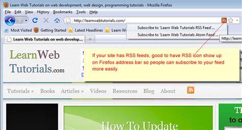 rss icon show   firefox address bar