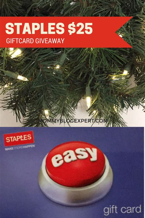 Mommy Blog Giveaways - mommy blog expert staples giftcard giveaway among 30 prizes entertowin