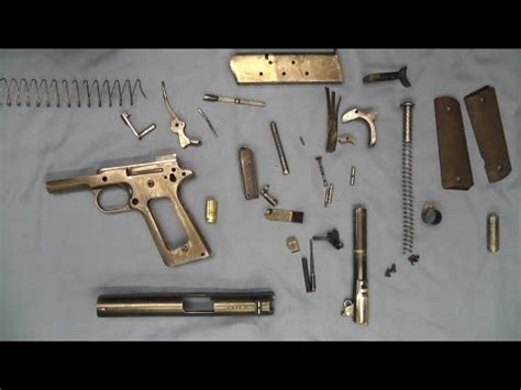 no tools assembly video clip hay 1911 pistol no tools detail strip assembly