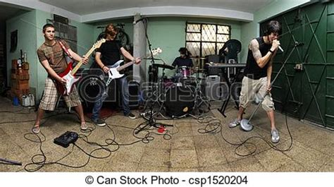 Band Garage Free by Stock Photo Of Rock Band On Garage Of