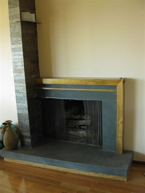 simple rectangular fireplace modern living room san