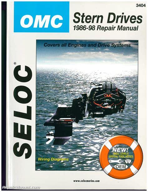 omc cobra stern drive boat engine repair manual