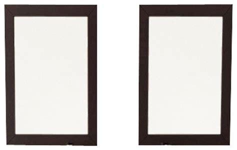 bathroom wall mirror square cherry oak framed renovator set of 2 bathroom mirrors with solid wood trim in espresso