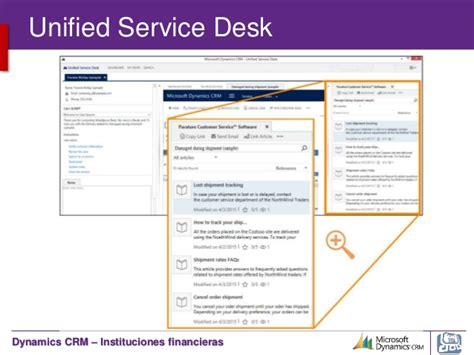 Unified Service Desk by Microsoft Dynamics Crm Servicio Al Cliente Servicios Financieros