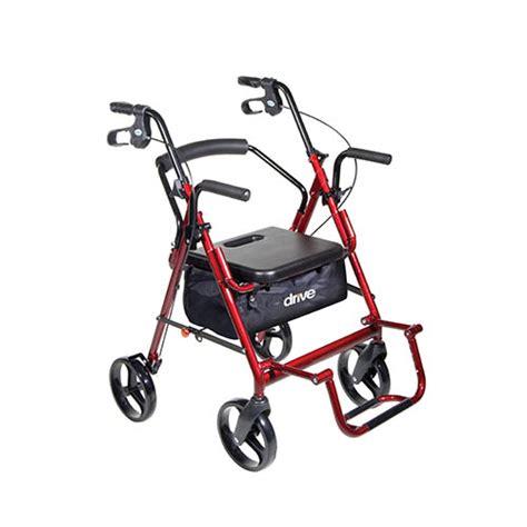 Drive Duet Rollator Transport Chair - drive duet transport wheelchair rollator walker bellevue