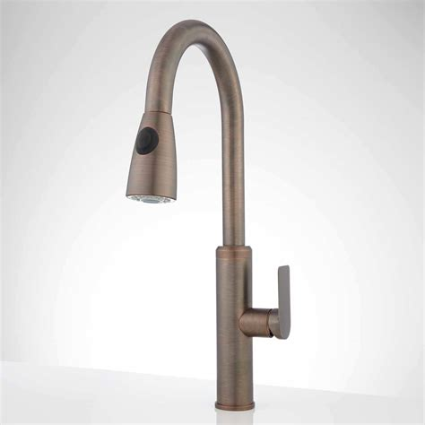brodie single hole pull down kitchen faucet kitchen gooseneck single hole kitchen faucet signature hardware