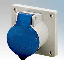Mennekes 5956 Switched Interlocked Receptacle Ip44 Am Top 63a4p400v mennekes 1366 blue panel mounting socket with 75mm x 75mm flange ip44 2p e 16a 230v 1366