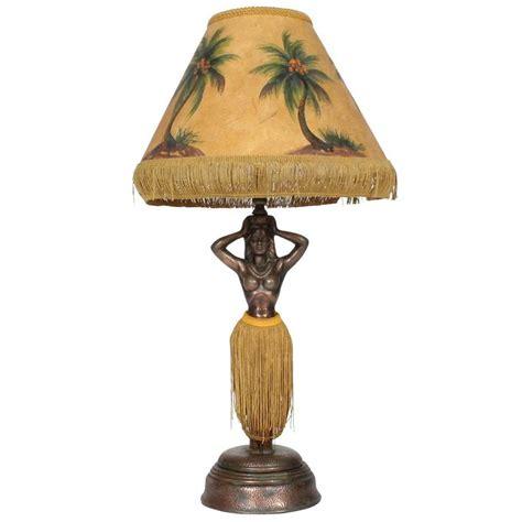 undulating hawaiian patinated metal lady hula lamp at 1stdibs