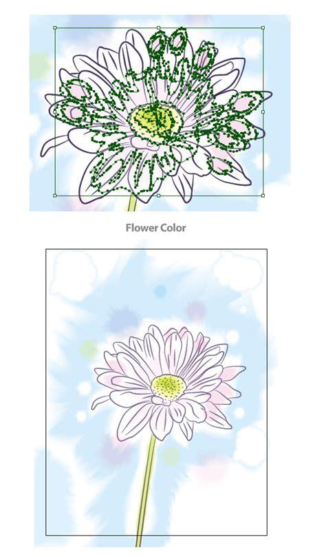 tutorial illustrator watercolor create a watercolor vector flower illustration