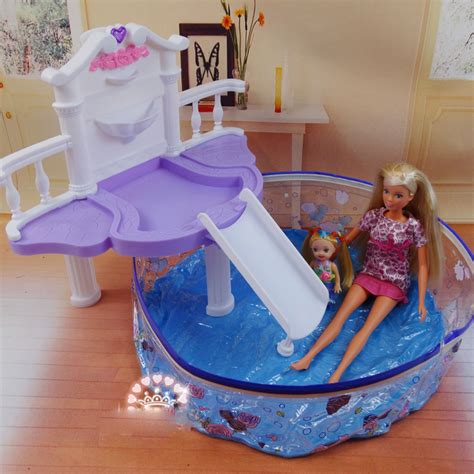 barbie doll house with swimming pool popular barbie swimming pool aliexpress
