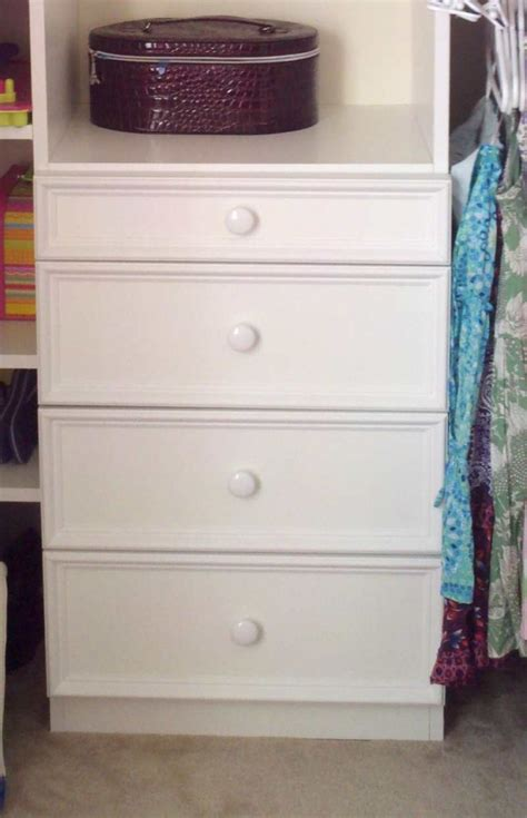 Custom Closet Drawers by Diy Custom Closet Drawers