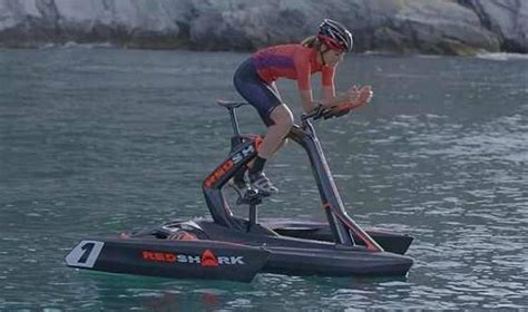 trimaran bike red shark pedal powered trimaran wordlesstech