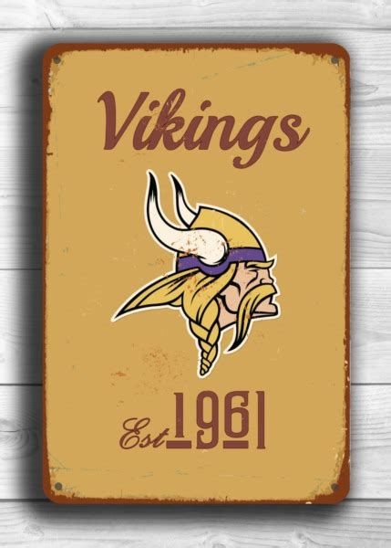 Cincinnati Reds Home Decor Minnesota Vikings Logo Sign Classic Metal Signs