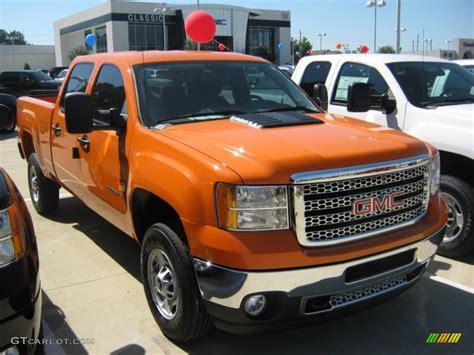 2011 fleet tangier orange gmc 2500hd work truck crew cab 4x4 37322222 photo 3
