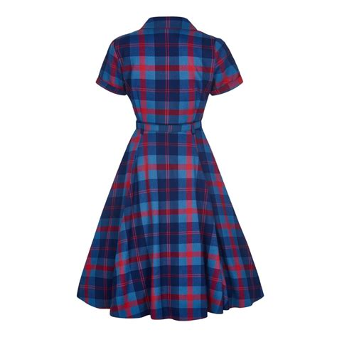 check swing collectif vintage caterina merida check swing dress