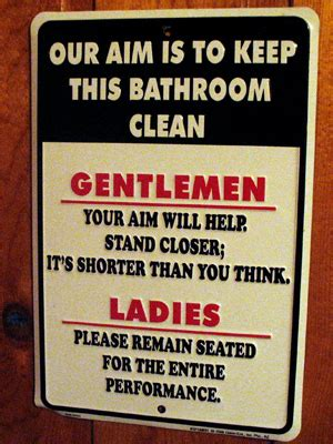funny bathroom signs for cleanliness funny keep bathroom clean signs