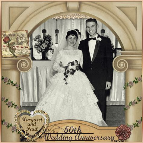Wedding Anniversary Scrapbook Ideas by 50th Wedding Anniversary Digital Scrapbooking At