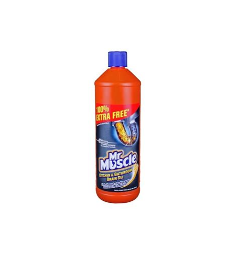 bathroom drain cleaner mr muscle liquid gel sink drain cleaner 1l supermart ae