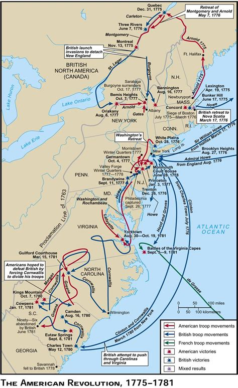 american battles map apushistorycase the battles and events of the american