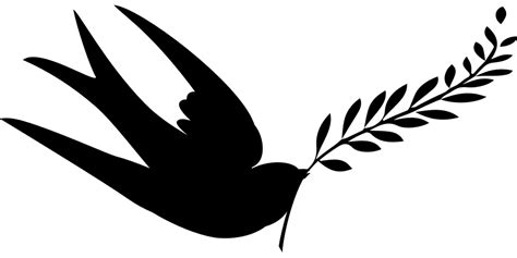 swallow clipart free download clip free vector graphic peace birds silhouette