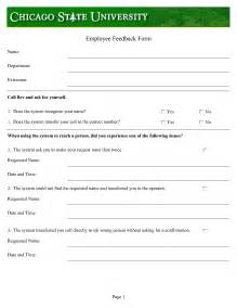 Employee Feedback Template best photos of staff feedback form template employee